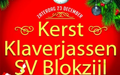 Kerst klaverjassen SV Blokzijl 23 december 2017