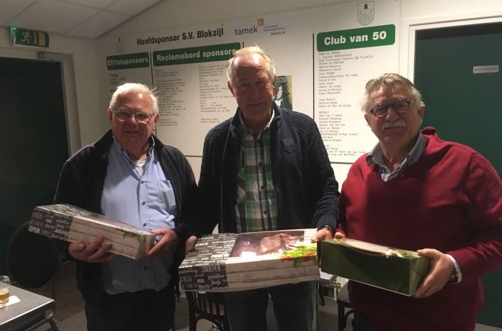 Harry Westerhof wint Kerstklaverjassen SV Blokzijl