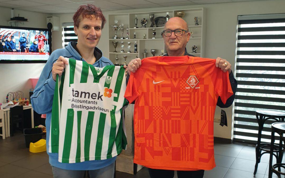 SV Blokzijl ruilt shirtje met de KNVB